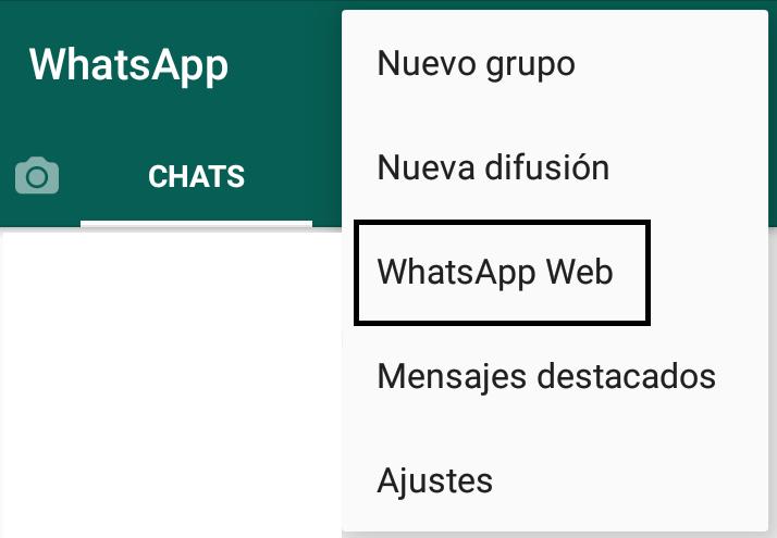 pulsar sobre Whatsapp web