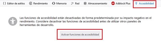 opcion de accesibilidad