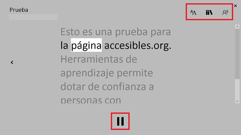 Pantalla de Lector inmersivo de microsoft learning tools