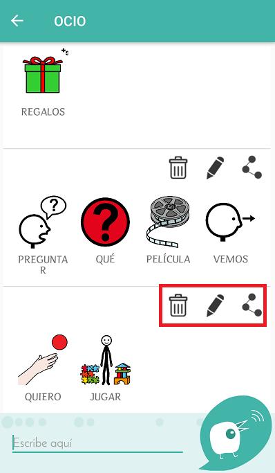 frases construidas en app dictapicto para tea autismo