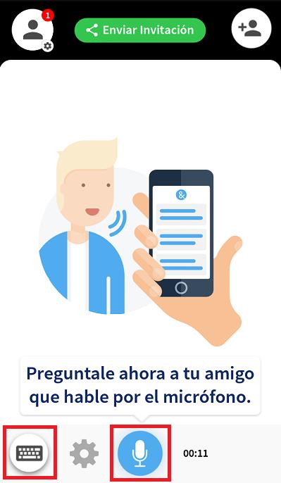 pantalla de conversacion de ava para personas sordas