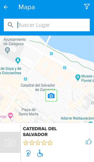 opcion de mapa para buscar lugares accesibles