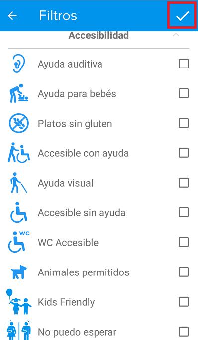 podemos filtrar por el tipo de discapacidad