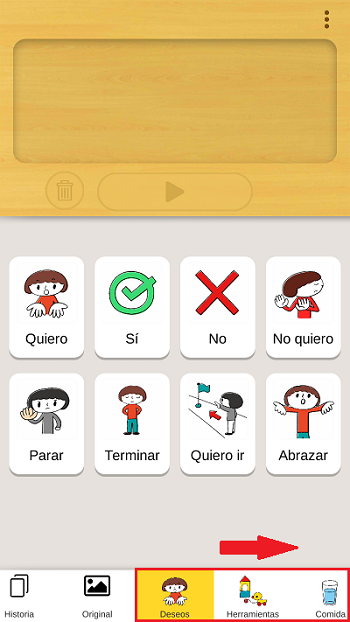 cardtalk permite comunicarnos con pictogramas