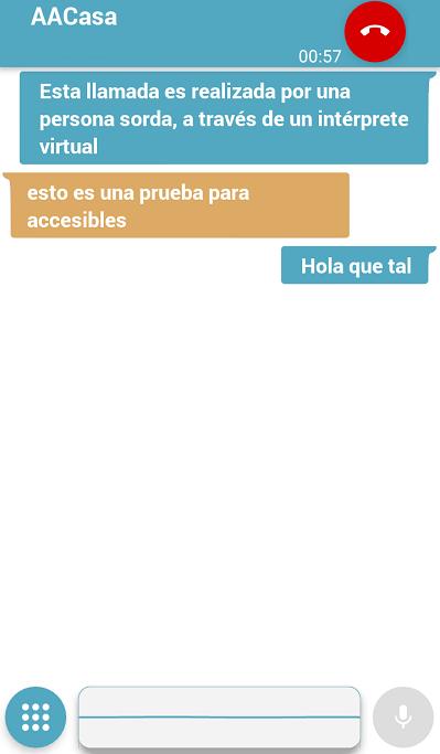 pedius traduce la conversacion en un formato de chat para ciegos