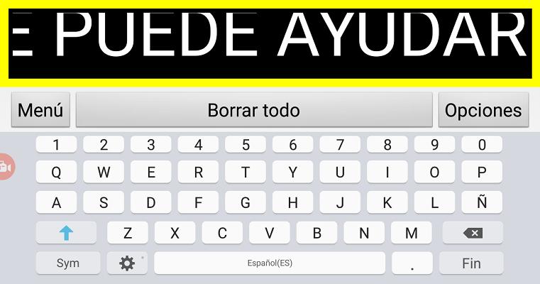 menu de entrada por teclado