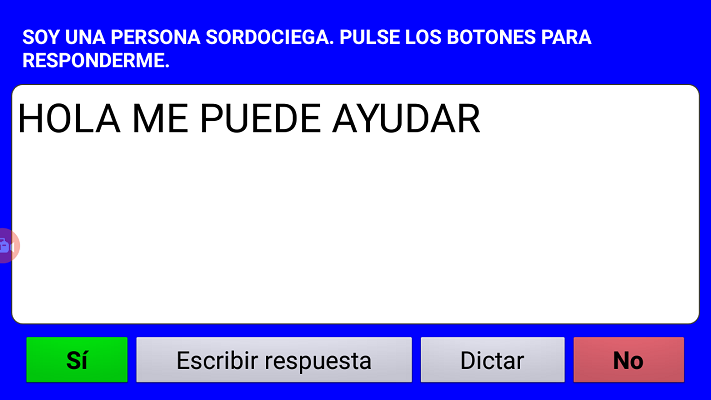pantalla de respuesta