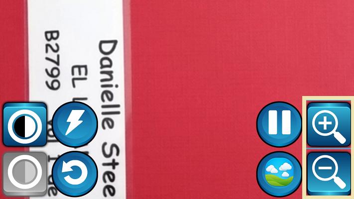 con los botones de la derecha tenemos los botones de zoom, para aumentar o disminuir el tamaño de la imagen