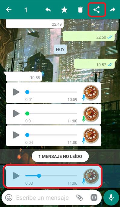 convertir notas de voz a texto facilmente en Whatsapp Android
