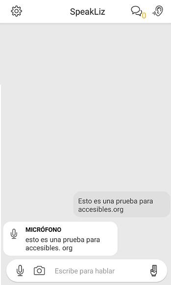 speakliz app para sordos