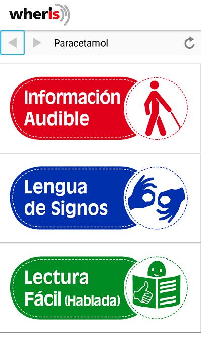 con wheris podemos adaptar nuestros productos para ciegos, sordos, personas mayores o discapacidad intelectual