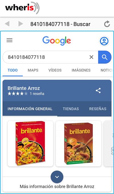 podemos usar la app para escanear codigos de barras de productos y saber que es