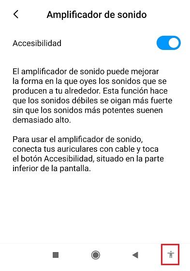amplificador de sonido es una nueva opcion de accesibilidad para android