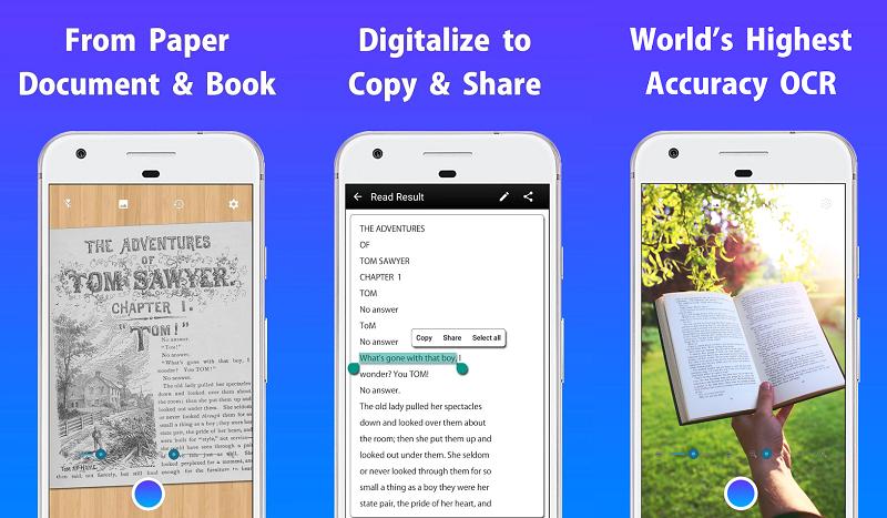 escaner de textos ocr para android