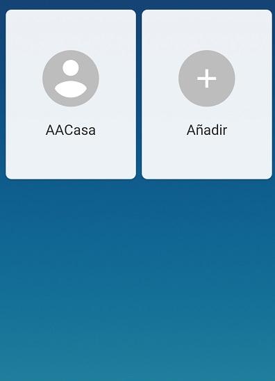 a la izquierda, el menu de contactos faciles