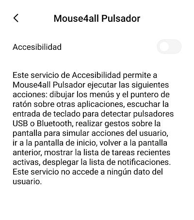 mouse4all se añade como funcion accesibilidad para discapacidad fisica