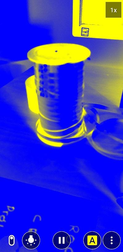 modo filtro de color de lupa accesible