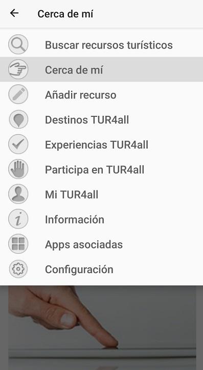 pantalla principal de la aplicacion tur4all