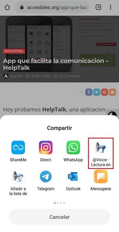 podemos compartir cualquier texto